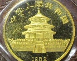 China 1/4 oz Gold proof