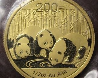 China 1/2 oz Gold proof