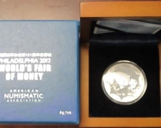 2012 China 1 oz Silver proof box set