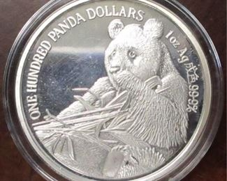1989 China 1 oz silver proof