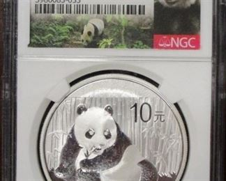 2015 China 1 oz silver proof MS70