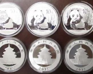 China 1 oz Silver proofs