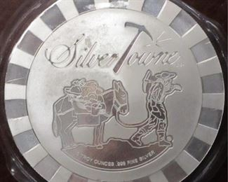 Silver Towne 5 oz Silver poker chip
