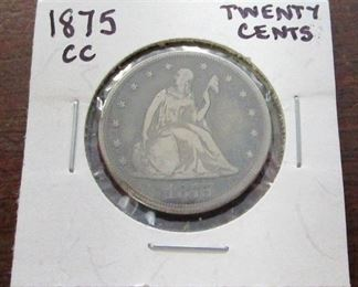 1875 Carson City 20 Cent piece