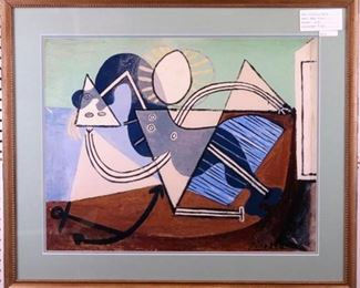 Woman on the Beach by Pablo Picasso