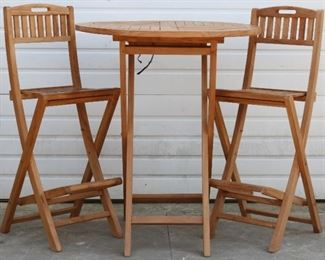 Teak Pub Table and chairs