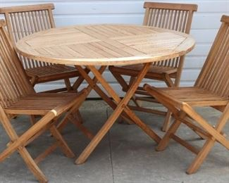 Teak Table with Chairs