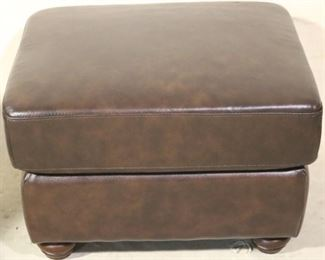 Leather Italia Brown Ottoman