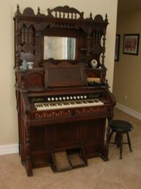 Awesome 1870's Story & Clark Pump Organ $1,200.00