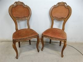 Antique French Style Side Chairs