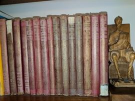 Vintage books and bookend.