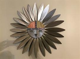 Tewa Sun Iron Art Work