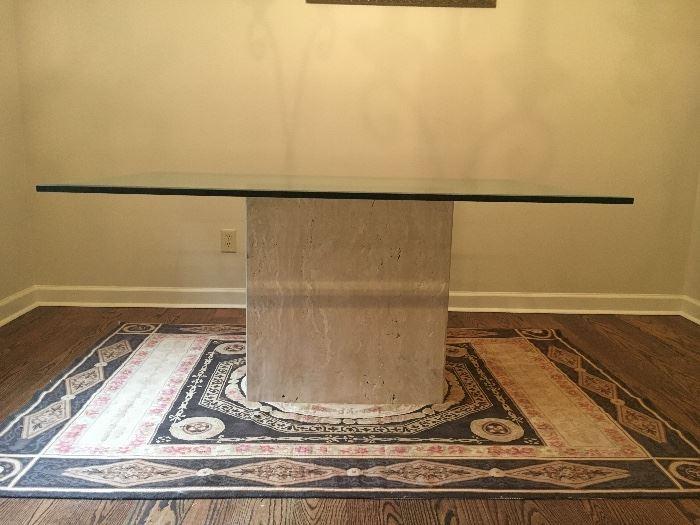 Italian Stone Glass Top Table