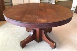 Antique Oak Mission Table