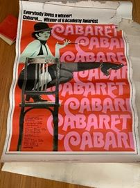 Vintage large Cabaret movie poster