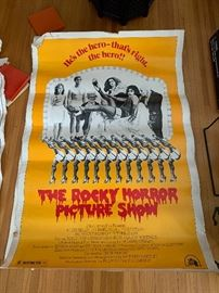 Vintage large Rocky Horror Picture Show movie poster