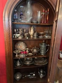 Antique silverplate items.