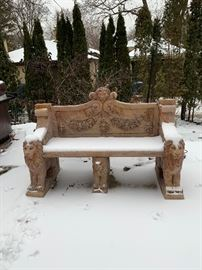 Regal garden bench. Available for presale. Text or email offers.