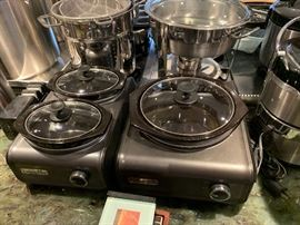 Crock Pot with multiple sizes.