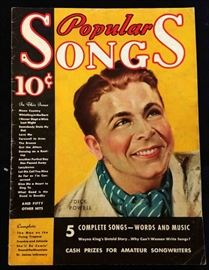 """Popular Songs"" with Earl Christy Cover Artwork- October 1934"