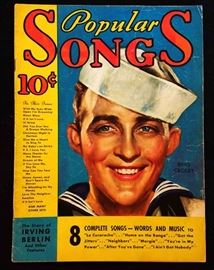 """Popular Songs"" with Earl Christy Cover Artwork- December 1934"