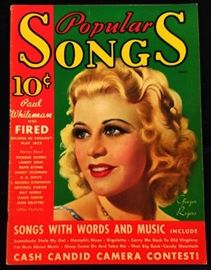"""Popular Songs"" with Earl Christy Cover Artwork- April 1935"