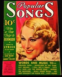 """Popular Songs"" with Earl Christy Cover Artwork-  June 1935"