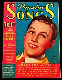"""Popular Songs"" with Earl Christy Cover Artwork- May 1935"