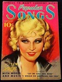 """Popular Songs"" with Earl Christy Cover Artwork- August 1935"