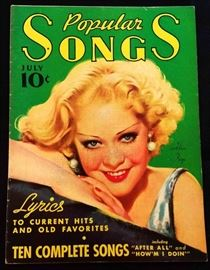 """Popular Songs"" with Earl Christy Cover Artwork-  July 1935"