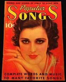 """Popular Songs"" with Earl Christy Cover Artwork-  April 1936"