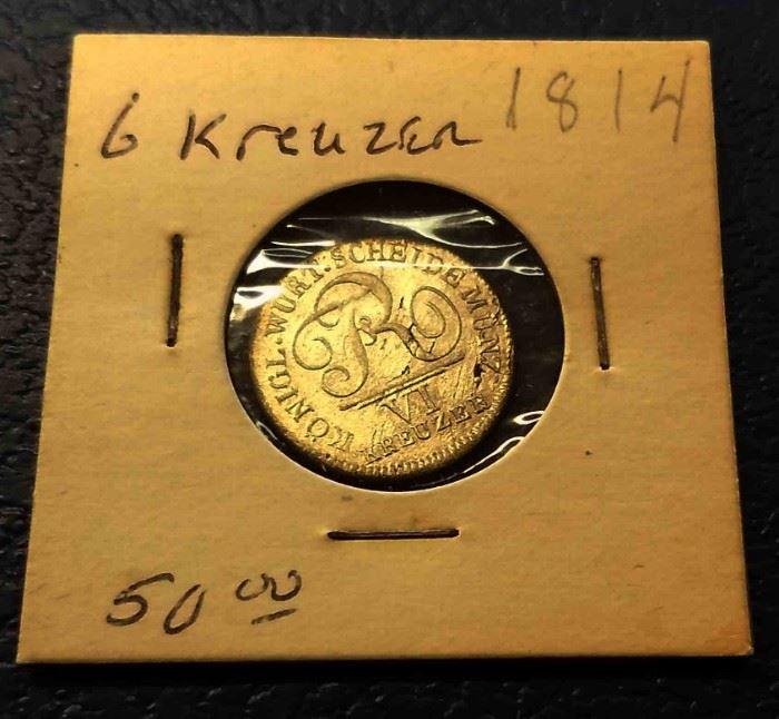 1814 6 Kreuzer Coin