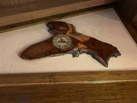 Huge Cypress wood clock