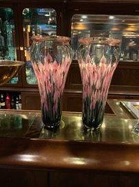 Pair of John Lotton vases - huge and spectacular