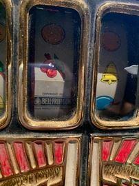 Close up of War Eagle slot machine