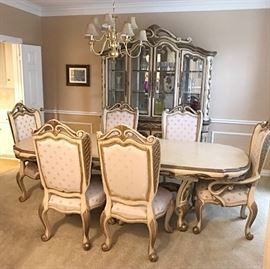 French Giverny Premium Collection Dining Table & Dining Hutch