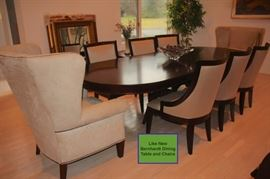Bernhardt Dining Table with 10 Chairs