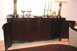 Bernhardt Server and Stiffel Lamps with Decorative Items