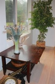 Quality Decorative Items, Ficus Plant and Table