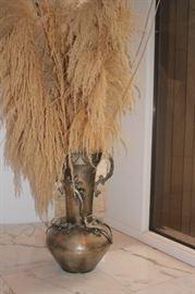 Decorative Pitcher and Dried Arrangement