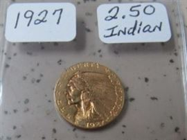 1927 Gold $2.50 Indian Head Coin