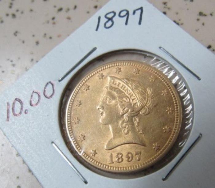 1897 Gold $10.00 Coin