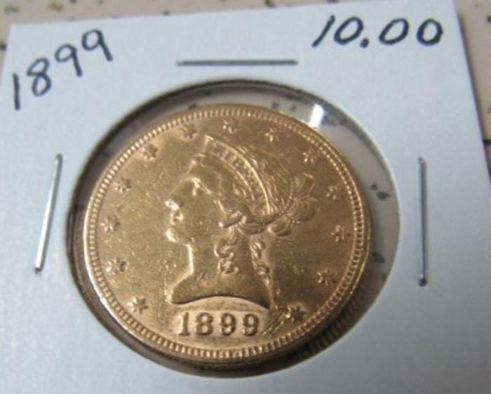 1899 Gold $10.00 Coin
