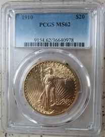 PCGS 1910 Gold $20.00 Coin