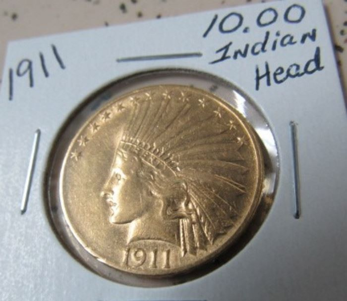 1911 Gold $10.00 Indian Head Coin