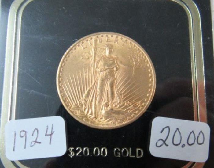 1924 Gold $20.00 Coin