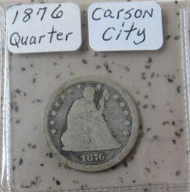 1876 Carson City Quarter