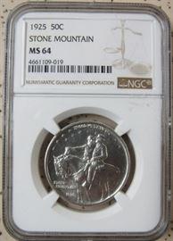 NGC 1925 Stone Mountain Half Dollar