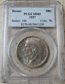PCGS  1937 Boone Half Dollar