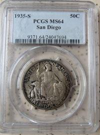 PCGS  1935-S  San Diego Half Dollar